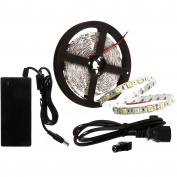 NEW WAVE 5m Flexible Led Light Strip, 300 Units SMD 2835 LED,3000K Warm White, 12V Non-waterproof DIY Christmas Holiday Home Kitchen Car Bar Indoor Party Decoration