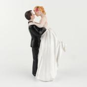 SwirlColor Wedding Cake Toppers Happy Couple Resin Dolls Bride and Groom Figurine