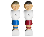 Pair of Traditional Replacement Foosball Players - Hardware Included!