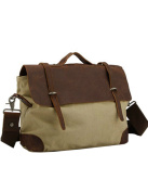Menschwear Men's Canvas Cross-body Bag Outdoor Camera Bag Cream