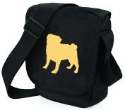 Pug Dog Bag Reporter Bag Shoulder Bag Pug Silhouette Pug Gift Choice of Colours Fawn, Black Pugs