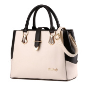 Large Capacity Trendy Style Handbag Black and White Casual Shoulder Bag Top-handle Bags for Women