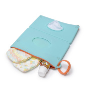 CB GO Silicone Wipes Clutch Case, Turquoise