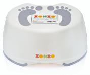 Zohzo Kids Bathroom Step Stool - Children's Step Stool For Babies and Toddlers - Lightweight & Easy To Clean Plastic Children Step Stool   Ideal For Potty Training, Hand Washing, Teeth Brushing