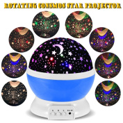Rotating Night Light,Ferryone Romantic Sky Moon & Cosmos Cover Projector Night Lighting for Children Adults Bedroom, Mood/Decorative Light, Baby Nursery Light, Living Room Gift