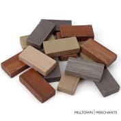 "Milltown Merchants™ 7/8"" (22mm) Earthy Domino Mosaic Tiles, 0.5kg (470ml) Bulk Assortment of Porcelain Mosaic Tiles - Brown, Beige, Grey Mix"