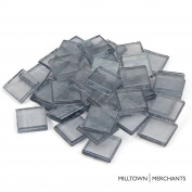 """Milltown Merchants™ 7/8"""" (22mm) Light Grey Iridescent Glass Mosaic Tiles, 1.4kg (1420ml) Bulk Assortment of Mosaic Tiles"""