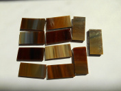 FortySevenGems 50 Pieces Tan Brown Mix Stained Glass Mosaic Border Tiles 1.3cm x 2.5cm