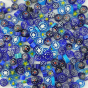 LIEOMO 100g appr. 100Pcs Blue Colours Venice Hand Fusible Glass Beads Mosaic Charms