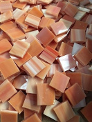 1.3cm Orange Stained Glass Mosaic Tiles