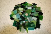 Green Tones Mix Value Pack - Stained Glass / Mosaics (1.4kg) by Sun and Moon Stained Glass