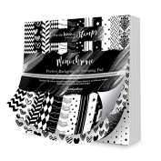 Hunkydory Crafts Perfect Background Stamping Pad Monochrome 8x8 Paper Pad