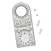 Colour Your Own Mother's Day Doorknob Hangers