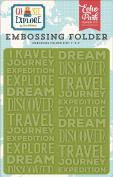 Echo Park Paper Company GSE127032 Embossing Folder -Explore