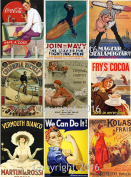 Vintage Ad Posters Collage Sheet 102 for Scrapbooking, ATC Cards, Altered Art Scrapbooking, Decoupage, Labels