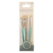 Craft Consortium Decoupage Brush Set 3/Pkg-Flat W/Hog Hair; 10Mm, 15Mm & 20Mm