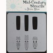Donna Mibus Mid-Century Stencils 20cm x 20cm -Tikis