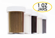 Large 30ml Jars - Worlds Greatest Embossing Powder by Stamp A Mania - for Rubber Stamping - Set of 5 Essential Colours - Black White Gold Clear Silver