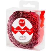 We R Chevron Washi Tape .2220cm X7.9m-Red Coral