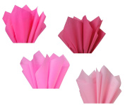 Hot Pink Neon Fuchsia Assorted Mixed Colour Multi-Pack Tissue Paper for Flower Pom Poms Art Craft Wedding Bridal Baby Shower Party Gift Bag Basket Filler Decoration