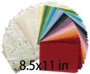 60 sheets 22cm x 28cm Mulberry Paper Sheet Design Craft Hand Made Art Tissue Japan Origami Washi Wholesale Bulk Sale Unryu Suppliers Thailand Products Card Making