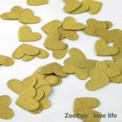 Glitter Paper Confetti Hearts, Wedding Party Decor and Table Decor,Heart-shaped confetti Gold Glitter Paper Confetti, DIY Kits,200pcs,pack of 2,hearts Dots