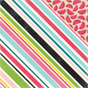 Summer Fun Double-Sided Cardstock 30cm x 30cm -Sweet Stripe