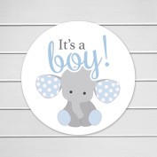 150cm - 3.8cm Elephant It's a Boy, Baby Shower Favour or Envelope Stickers