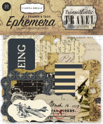Carta Bella Paper Company Transatlantic Travel Frames & Tags Ephemera