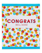 American Greetings Congratulations Colourful Dots Extra Small Gift Bag