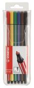 STABILO Pen 68 Premium Felt-Tip Pen - Wallet of 6 Colours
