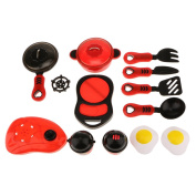 MagiDeal Kids Children Kitchen Cookware Role Play Pretend Toy Kit