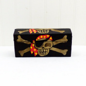 Treasure Chest Wooden Storage Pirate Trunk in our Swashbucklers design - Gift idea for Childrens Birthday for Girls or Boys