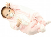 23In/57cm Realistic Full Body Silicone Vinyl Reborn Baby Girl Dolls Morhair Rooted Real Newborn Babies Dolls Birthday Gift