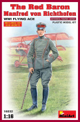 "Miniart 1:16 Scale ""The Red Baron Manfred von Rihthofen WWI Flying Ace"" Plastic Model Kit"