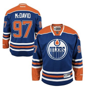Connor McDavid Edmonton Oilers #97 NHL Youth Premier Stitched Team Home Jersey