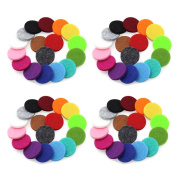 DIB 68pcs Essential Oil Diffuser Locket Necklace 22mm Refill Replacement Pads for Aromatherapy 17 Different Colours