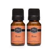 Rose Fragrance Oil - Premium Grade Scented Oil - 10ml - 2-Pack