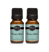 Winter Mint Fragrance Oil - Premium Grade Scented Oil - 10ml - 2-Pack