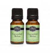 Cucumber Melon Fragrance Oil - Premium Grade Scented Oil - 10ml - 2-Pack