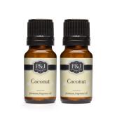 Coconut Fragrance Oil - Premium Grade Scented Oil - 10ml - 2-Pack