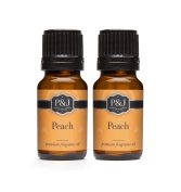 Peach Fragrance Oil - Premium Grade Scented Oil - 10ml - 2-Pack