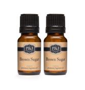 Brown Sugar Fragrance Oil - Premium Grade Scented Oil - 10ml - 2-Pack