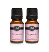 Peppermint Fragrance Oil - Premium Grade Scented Oil - 10ml - 2-Pack