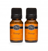 Orange Fragrance Oil - Premium Grade Scented Oil - 10ml - 2-Pack