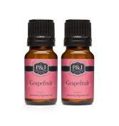 Grapefruit Fragrance Oil - Premium Grade Scented Oil - 10ml - 2-Pack