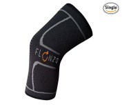 Flonzo Knee Compression Sleeve Brace Suppport for Running, Jogging, Weightlifting and Exercise. Protective Sleeves For Sports such as Basketball, Football, Baseball, Soccer, Joint Pain, Arthritis