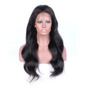 Wicca 130Density Brazilian Virgin Hair Full Lace Wig & Lace Front Wig Human Natural Hair Body Wave Wig For Black Women