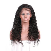 Dream Beauty Natural Black Natural Curly Wave Brazilian Virgin Hair Human Hair Wig Glueless Full Lace Human Hair Wigs With Baby Hair Lace Front Human Hair Wig