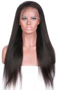 Yaki Straight Virgin Brazilian Human Hair Kinky Italian Yaki full lace wig/front lace wig glueless With Baby Hair for women